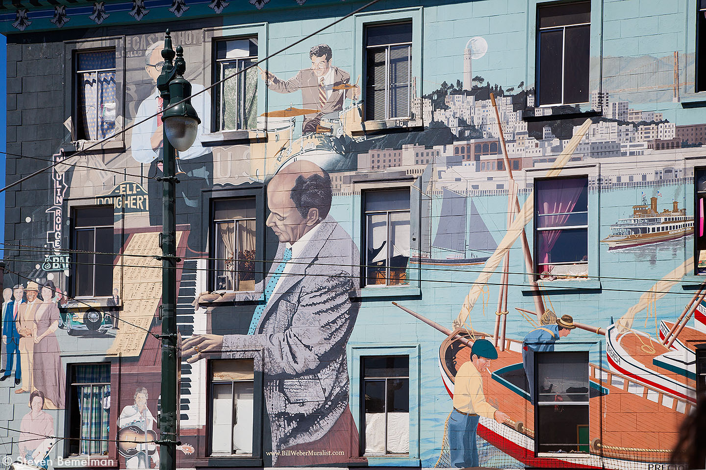 Bill Weber's Jazz Mural, San Fransisco
