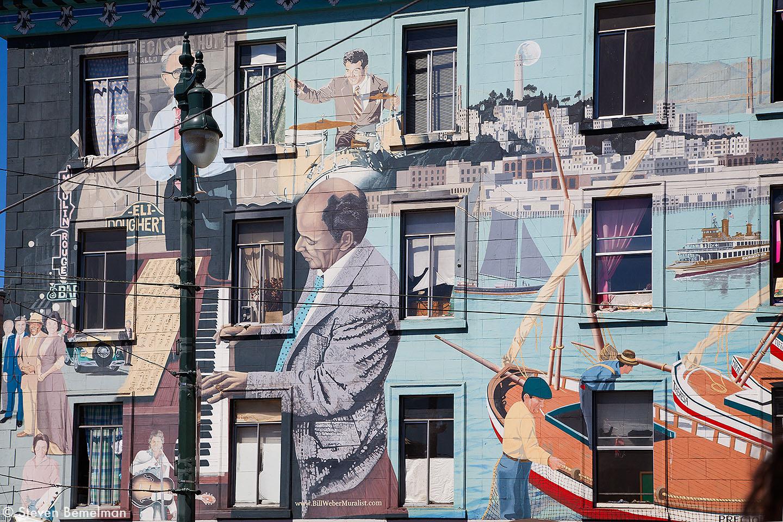 Bill Weber's Jazz Mural, San Fransisco